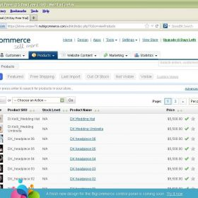 Web Development & Admin -- BigCommerce CMS